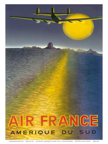 victor-vasarely-air-france-amerique-du-sud-c-1946